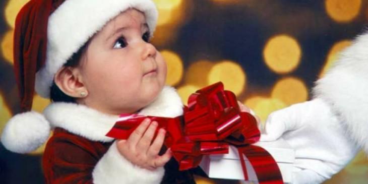 Bambini e Babbo Natale