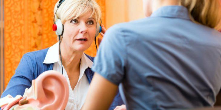 Esame audiometrico per la salute dell'udito