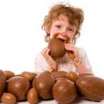 Uova di cioccolato e bambini