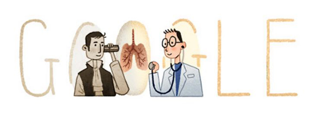 Inventore dello stetoscopio - Doodle Google